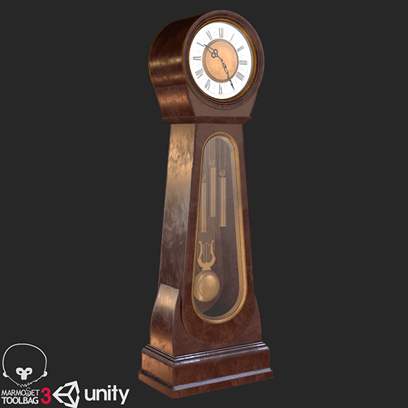 Classic Grandfather Clock PBR - 3DOcean Item for Sale