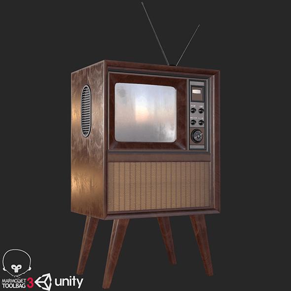 Retro Vintage Television PBR