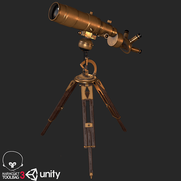 Old Antique Telescope PBR