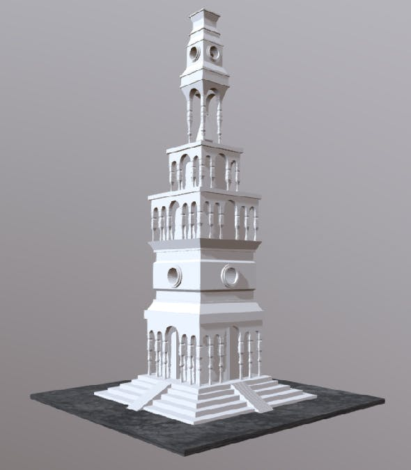 Temple tower - 3DOcean Item for Sale