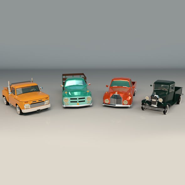 Low Poly Pickup Pack - 3DOcean Item for Sale