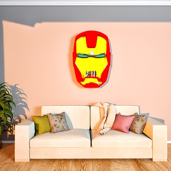 IRONMAN bookshelf - 3DOcean Item for Sale
