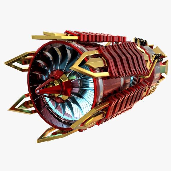 Futuristic Jet Engine - 3DOcean Item for Sale