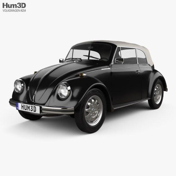 Volkswagen Beetle convertible 1975 - 3DOcean Item for Sale