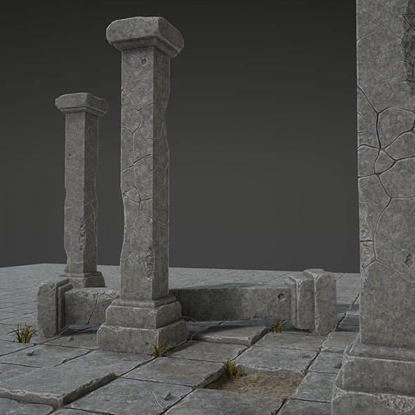 Column Set - 3DOcean Item for Sale