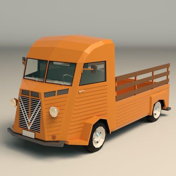 Low Poly Pickup Van 02 - 3DOcean Item for Sale
