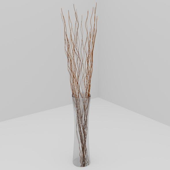 Vase with Wooden Sticks