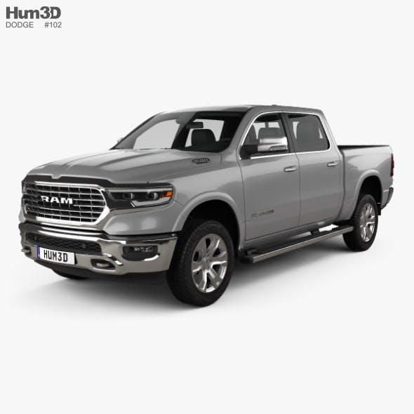 Dodge Ram 1500 Crew Cab Laramie Longhorn 5-foot 7-inch Box 2019 - 3DOcean Item for Sale