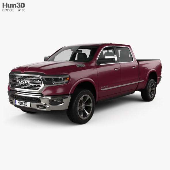 Dodge Ram 1500 Crew Cab 6-foot 4-inch Box Limited 2019 - 3DOcean Item for Sale