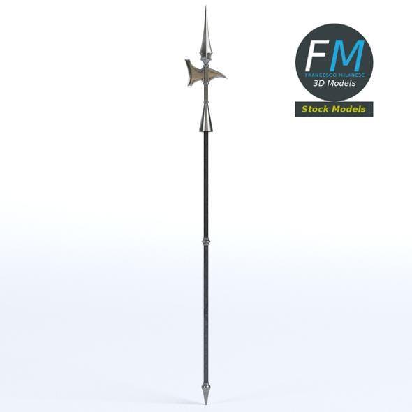 Medieval halberd 2 - 3DOcean Item for Sale