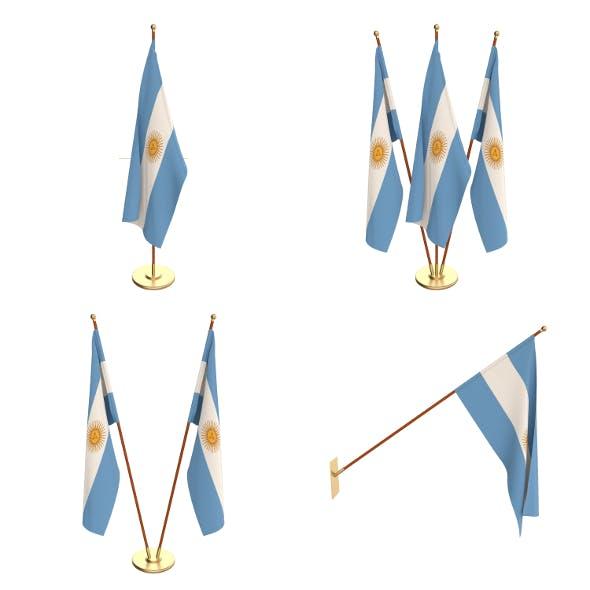Argentina Flag Pack - 3DOcean Item for Sale