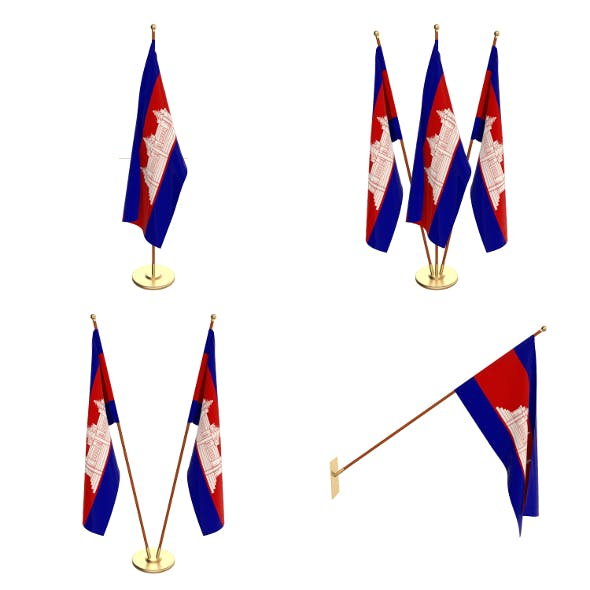 Cambodia Flag Pack - 3DOcean Item for Sale