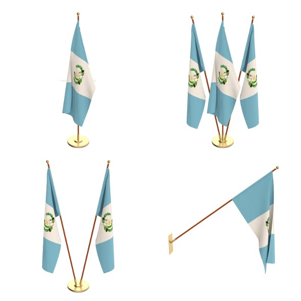 Guatemala Flag Pack - 3DOcean Item for Sale