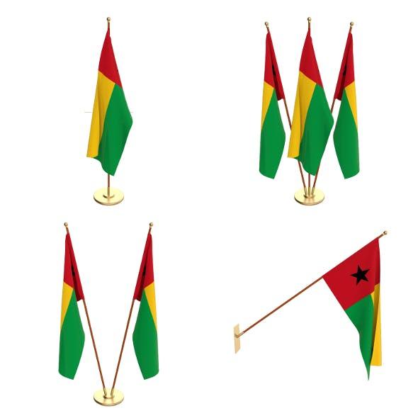 Guinea Bissau Flag Pack - 3DOcean Item for Sale