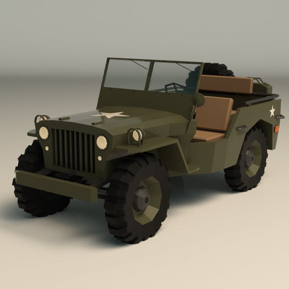Military Jeep For Sale >> Low Poly Military Jeep 01 By Linder Media 3docean