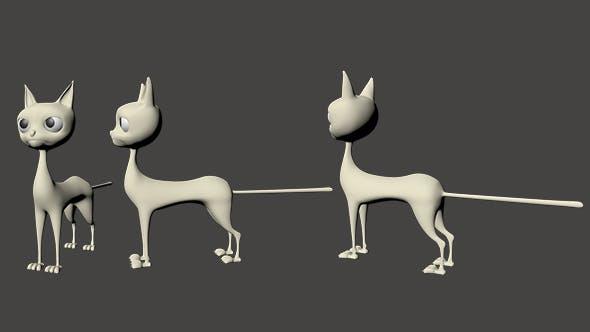 Cat Cartoon - 3DOcean Item for Sale