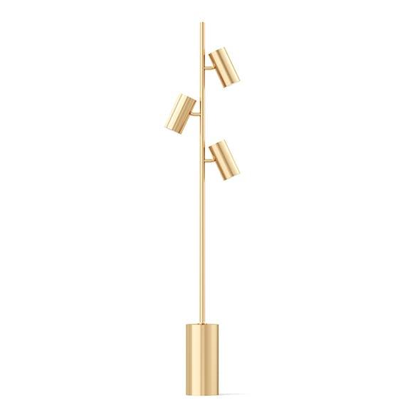Golden Floor Lamp 3D Model - 3DOcean Item for Sale