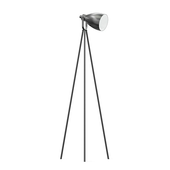 Black Floor Lamp 3D Model - 3DOcean Item for Sale