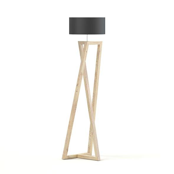 Wooden Floor Lamp 3D Model - 3DOcean Item for Sale