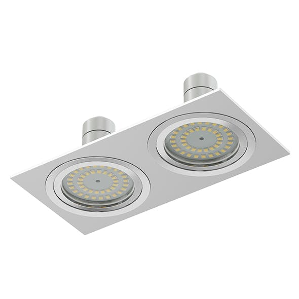 Double Halogen Light 3D Model