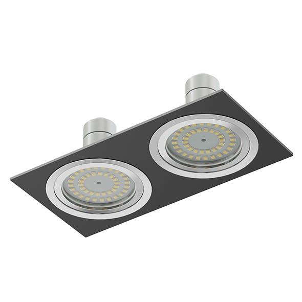 Double Black Halogen Light 3D Model - 3DOcean Item for Sale