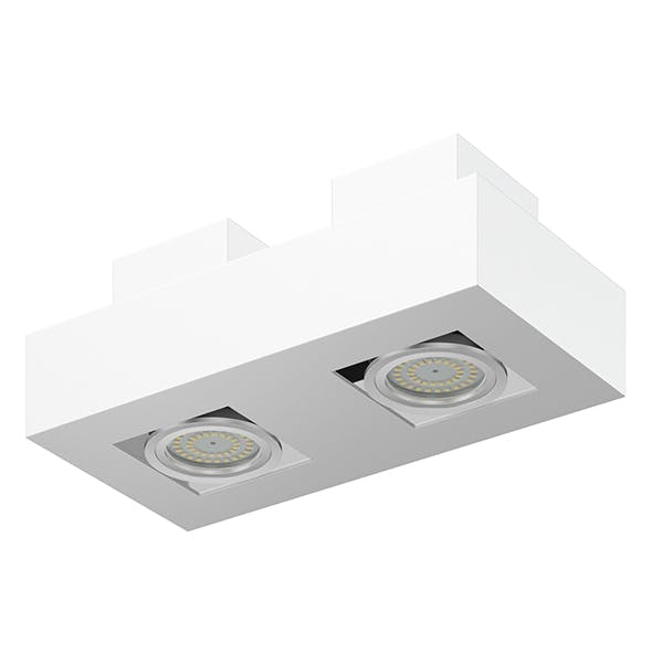 Double Rectangular Halogen Light 3D Model - 3DOcean Item for Sale