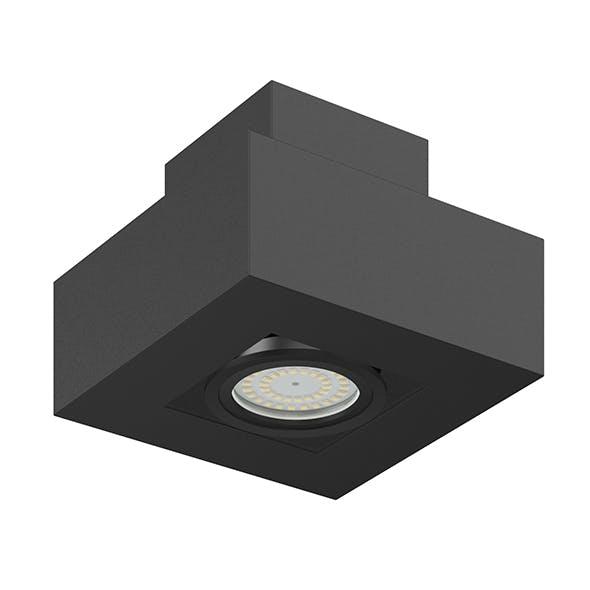 Black Rectangular Halogen Light 3D Model - 3DOcean Item for Sale