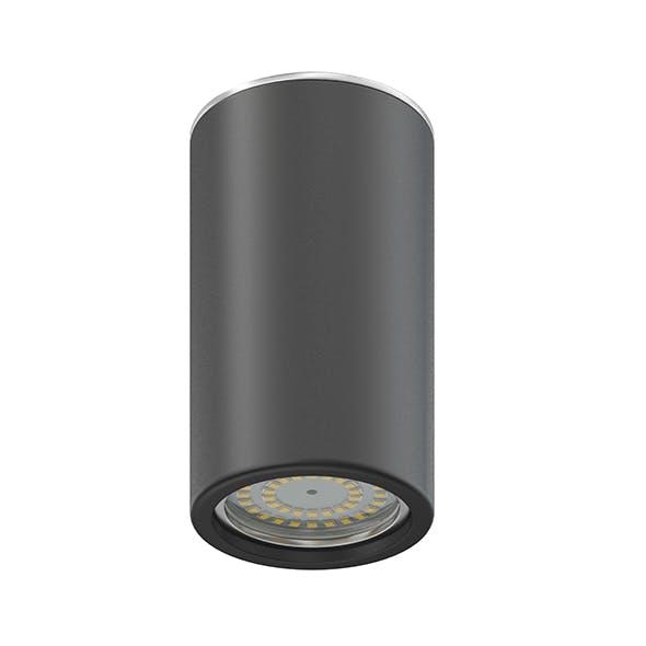 Black Cylindrical Light 3D Model - 3DOcean Item for Sale