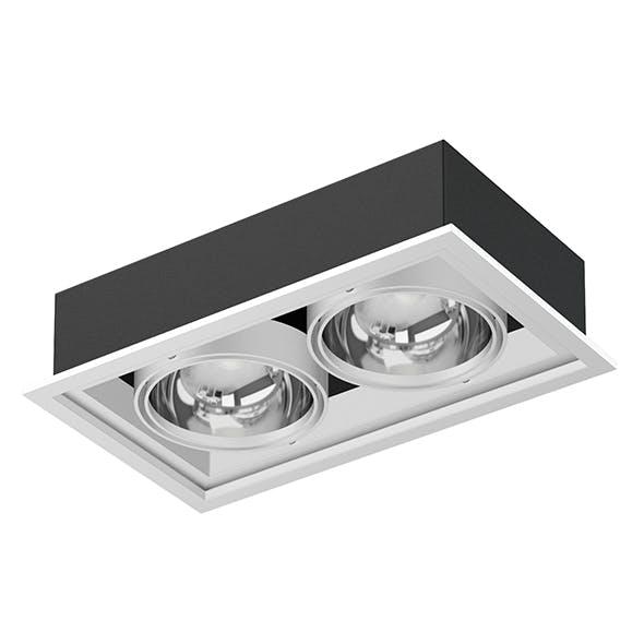 Double Ceiling Light 3D Model - 3DOcean Item for Sale