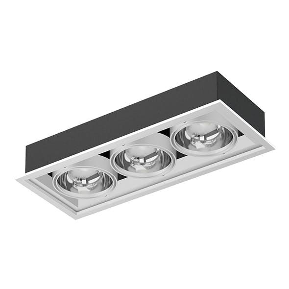 Triple Ceiling Light 3D Model