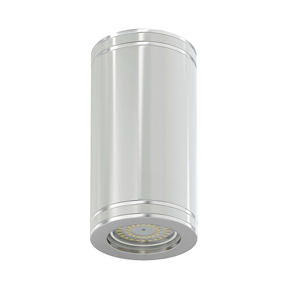 White Cylindrical Light 3D Model - 3DOcean Item for Sale