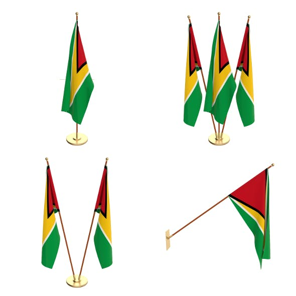 Guyana Flag Pack - 3DOcean Item for Sale