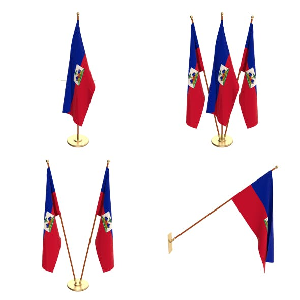 Haiti Flag Pack - 3DOcean Item for Sale