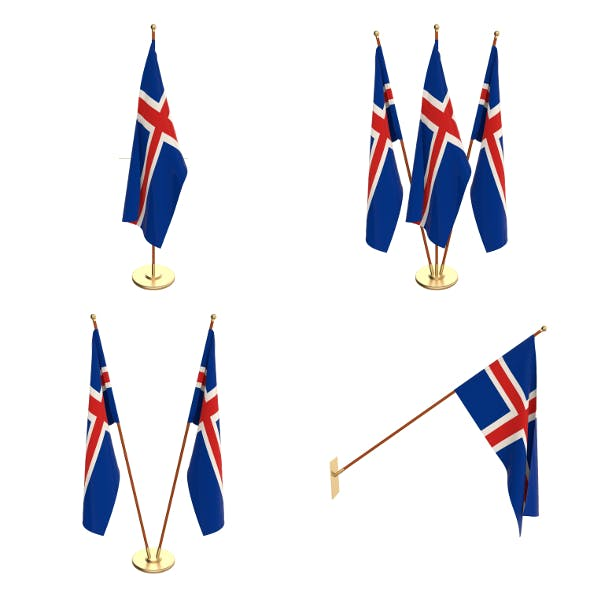 Iceland Flag Pack - 3DOcean Item for Sale