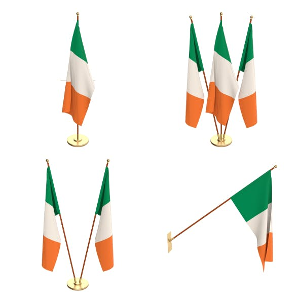 Ireland Flag Pack - 3DOcean Item for Sale