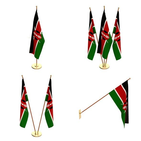Kenya Flag Pack - 3DOcean Item for Sale