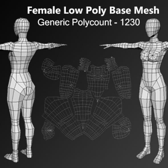 Human Female Low Poly Base Mesh