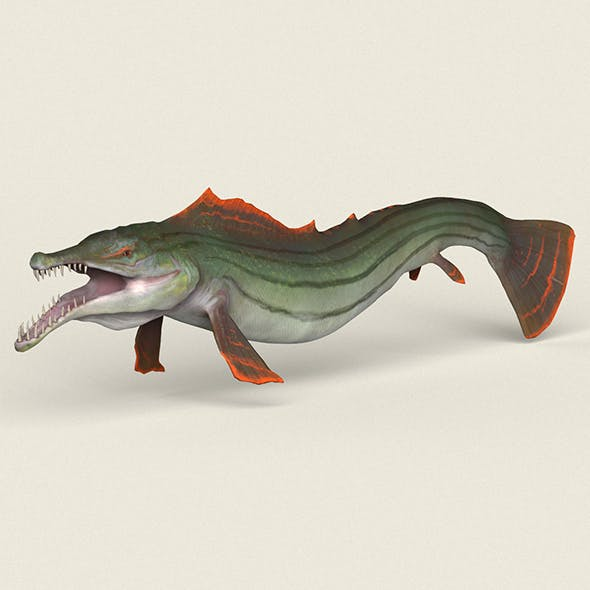 Low poly Realistic Pike Fish - 3DOcean Item for Sale