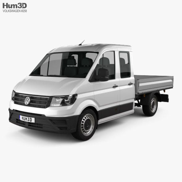 Volkswagen Crafter Double Cab Dropside 2017 - 3DOcean Item for Sale