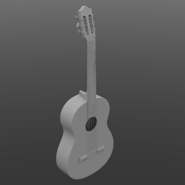 Guitar hi-poly model - 3DOcean Item for Sale