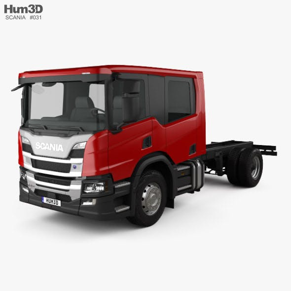 Scania P Crew Cab CP28 Chassis Truck 2017 - 3DOcean Item for Sale