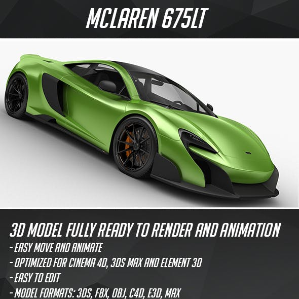 McLaren 675 LT HQ interior 2016