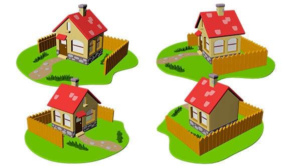 House Cartoon - 3DOcean Item for Sale