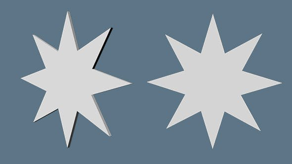 STAR Eight pointed star - 3DOcean Item for Sale
