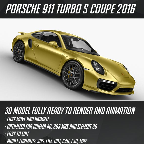 Porsche 911 Turbo S Coupe 2016