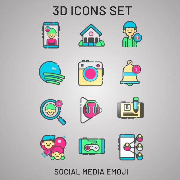 3D Social Media & Web Icons
