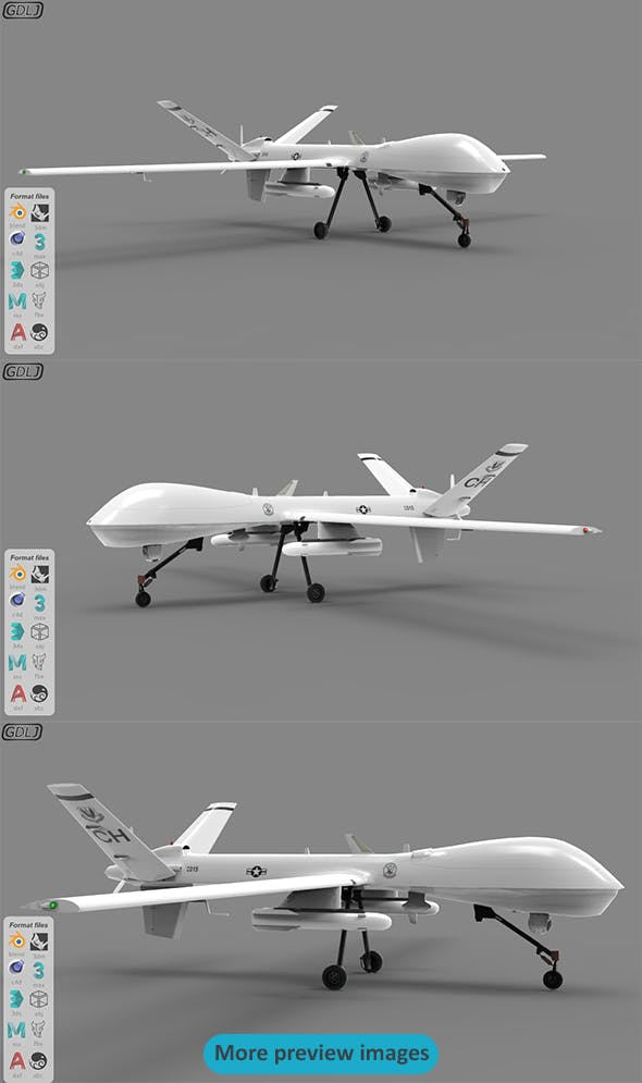 MQ-9 - 3DOcean Item for Sale