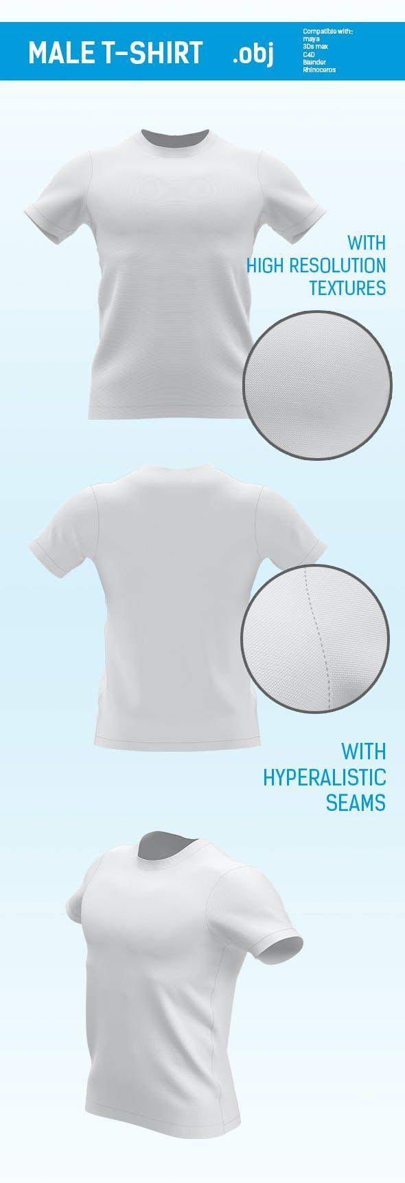 regular size male t shirt for mockup - 3DOcean Item for Sale