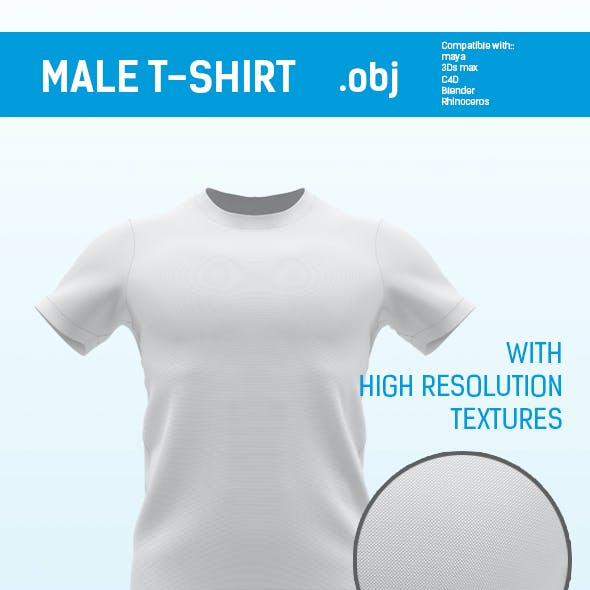 regular size male t shirt for mockup