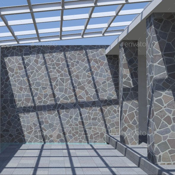 Crazy Stone Cladding - 3DOcean Item for Sale
